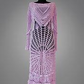 handmade. Livemaster - original item Crochet dress Elvire. Bohemian rose maxi women handmade lace dress. Handmade.