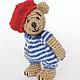 Мишки Тедди ручной работы. Ярмарка Мастеров - ручная работа. Купить Вязаный мишка француз. Handmade. Мишка, тедди