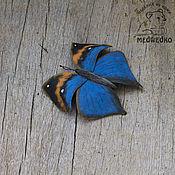 Brooches handmade. Livemaster - original item Brooch leather Butterfly Kallima. Handmade.