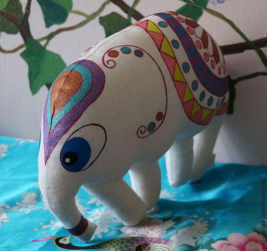 """Игрушки животные, ручной работы. Ярмарка Мастеров - ручная работа. Купить Игрушка-подушка белый слон """"Лукреция"""". Handmade."""