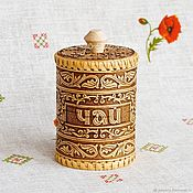 Русский стиль handmade. Livemaster - original item Box of birch bark for tea