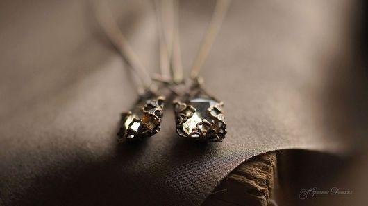 """Серьги ручной работы. Ярмарка Мастеров - ручная работа. Купить Серьги винтажные """"Ушедший день"""". Handmade. Винтажный стиль, бронза"""