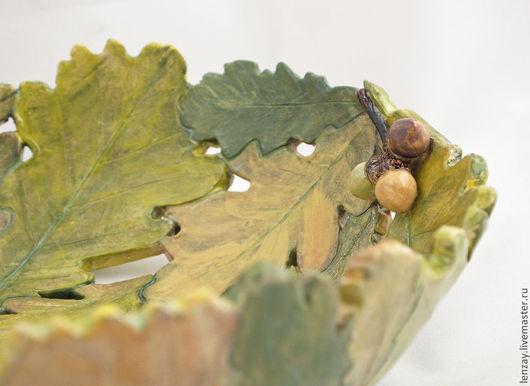 Пиалы ручной работы. Ярмарка Мастеров - ручная работа. Купить Осенний дуб - пиала большая. Handmade. Зеленый, осень, коричневый