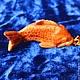 Брелоки ручной работы. Ярмарка Мастеров - ручная работа. Купить Брелок Карасик. Handmade. Рыба, рыбка