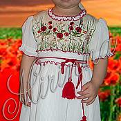 """Одежда ручной работы. Ярмарка Мастеров - ручная работа Нарядное платье для девочки """"Маковка"""". Handmade."""