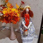 Куклы Тильда ручной работы. Ярмарка Мастеров - ручная работа Тильды: Девушка Осень. Handmade.
