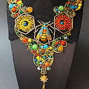 Украшения handmade. Livemaster - original item Golden Bee Necklace. Handmade.
