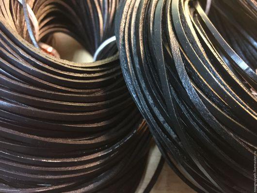 Для украшений ручной работы. Ярмарка Мастеров - ручная работа. Купить Шнур кожаный 2х3 мм ,  коричневый. Handmade. Коричневый