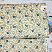 Материалы для творчества ручной работы. Ярмарка Мастеров - ручная работа Ткань мини отрез 20142  Цветы/вьюны (22х27см). Handmade.