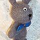 Игрушки животные, ручной работы. Заяц с бабочкой. Sonmagia Art (SonmArt). Интернет-магазин Ярмарка Мастеров. Заяц игрушка, мохер