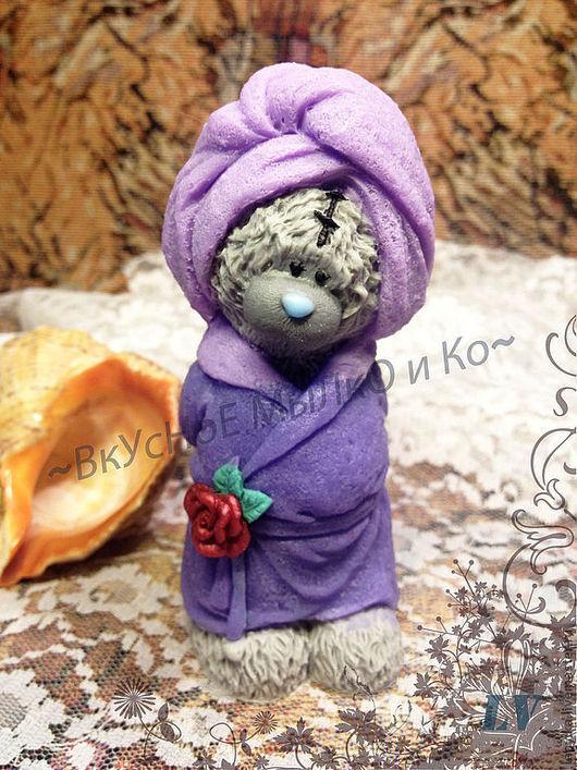 """Мыло ручной работы. Ярмарка Мастеров - ручная работа. Купить Мыло для рук  """"Тедди в халате"""". Handmade. Тедди, мыло сувенирное"""