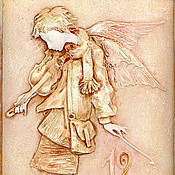 """Для дома и интерьера ручной работы. Ярмарка Мастеров - ручная работа Часы """"Вечерний ангел"""". Handmade."""