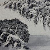 Картины и панно ручной работы. Ярмарка Мастеров - ручная работа картина Слушая шум водопада в дальних горах.(китайская живопись пейзаж. Handmade.