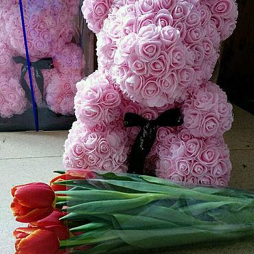 Куклы и игрушки ручной работы. Ярмарка Мастеров - ручная работа Игрушки: Мишка из роз. Handmade.