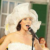Аксессуары handmade. Livemaster - original item Summer hat ivory. Handmade.