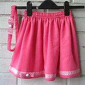 Работы для детей, ручной работы. Ярмарка Мастеров - ручная работа Розовая юбочка и повязка. Handmade.