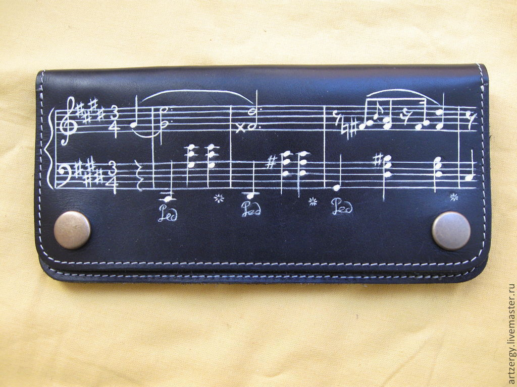 purse leather 'Waltz Chopin C-sharp minor', Wallets, Moscow,  Фото №1