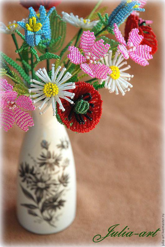 Букеты ручной работы. Ярмарка Мастеров - ручная работа. Купить Летний букет (2). Handmade. Комбинированный, цветы, колокольчики