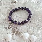 Украшения handmade. Livemaster - original item Bracelet Amethyst charm bracelet. Handmade.
