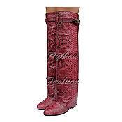 Обувь ручной работы handmade. Livemaster - original item Boots Python GEMINE. Handmade.