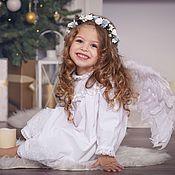 Работы для детей, ручной работы. Ярмарка Мастеров - ручная работа Крестильное платье, крестильная рубашка, платье Ангела. Handmade.