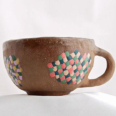 """Посуда ручной работы. Ярмарка Мастеров - ручная работа Суповая чашка """"Мозаика"""". Handmade."""