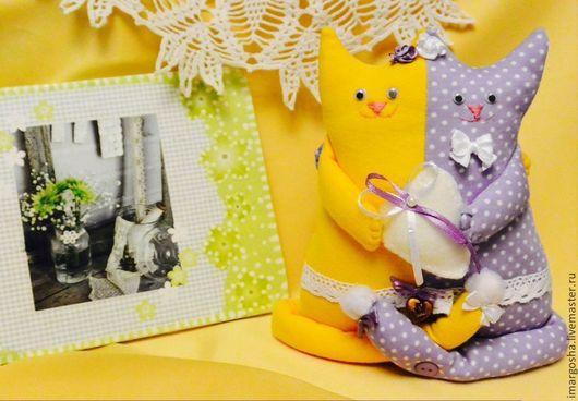 """Куклы Тильды ручной работы. Ярмарка Мастеров - ручная работа. Купить Котик тильда """"Обнимашки"""". Handmade. Неразлучники, котик"""