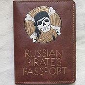 Аксессуары handmade. Livemaster - original item PIRATE combo cover for passport and debit cards. Handmade.