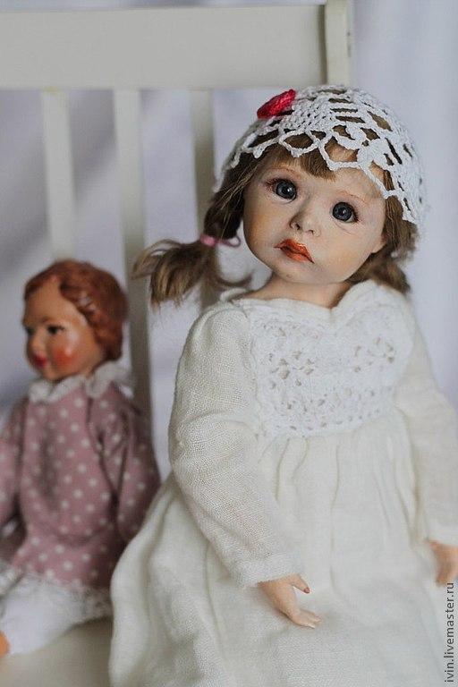 """Коллекционные куклы ручной работы. Ярмарка Мастеров - ручная работа. Купить """"Не дам"""" подвижная кукла Луша с игрушкой.. Handmade."""