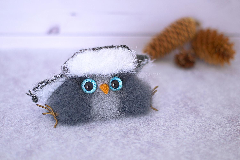 Сибирский совенок в шапке ушанке. Филин игрушка, Народные сувениры, Новосибирск,  Фото №1