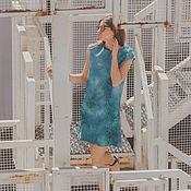 """Одежда ручной работы. Ярмарка Мастеров - ручная работа Валяное платье """"Море"""". Handmade."""