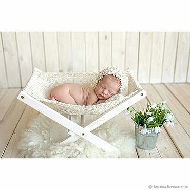 Сувениры и подарки ручной работы. Ярмарка Мастеров - ручная работа Гамак для фотосессии новорожденных кружевной + подушка. Handmade.