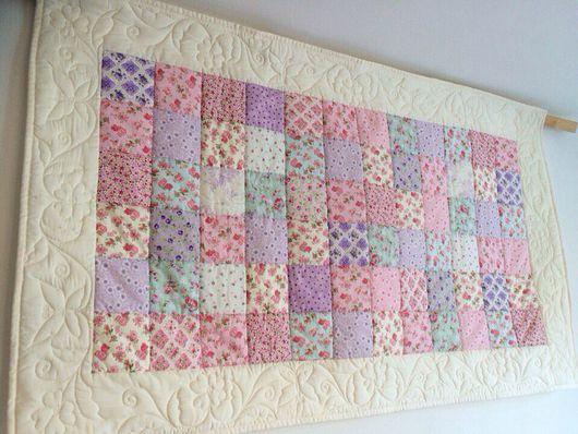 Текстиль, ковры ручной работы. Ярмарка Мастеров - ручная работа. Купить Нежное цветочное панно.. Handmade. Квиллинг, на выписку