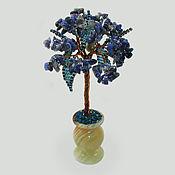 handmade. Livemaster - original item A miniature tree made of lapis lazuli