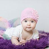 Панамы ручной работы. Ярмарка Мастеров - ручная работа панамка для девочки, панама летняя, розовый. Handmade.