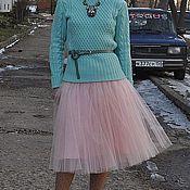 Одежда ручной работы. Ярмарка Мастеров - ручная работа Юбка пудровая из фатина. Handmade.