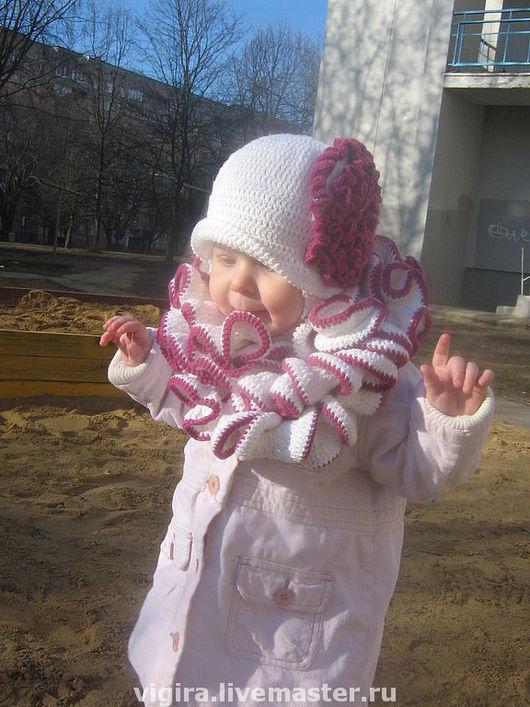 Одежда для девочек, ручной работы. Ярмарка Мастеров - ручная работа. Купить Комплект для малышки. Handmade. Шапочка, белый