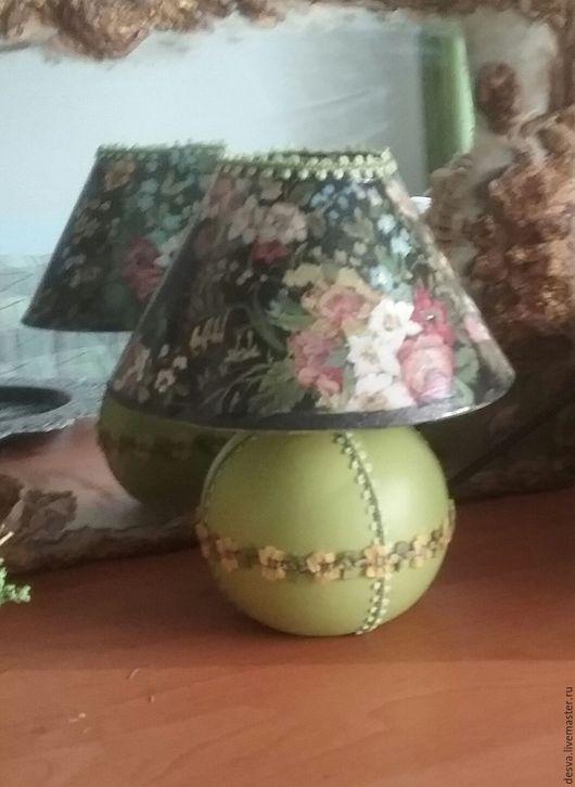 """Освещение ручной работы. Ярмарка Мастеров - ручная работа. Купить Настольная лампа - ночник """"Цветочное настроение """" в черном. Handmade."""