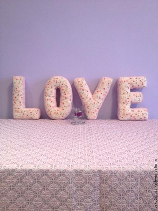 Интерьерные слова ручной работы. Ярмарка Мастеров - ручная работа. Купить Мягкие буква подушки, слово love. Handmade. свадьба