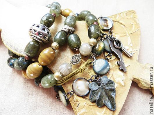 """Многослойный браслет """"Ключи от старинного сада..."""" Все подвески - настоящий винтаж из моей личной коллекции. Единственный экземпляр, Повтор невозможен."""