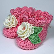Работы для детей, handmade. Livemaster - original item Booties warm boots for baby. Handmade.