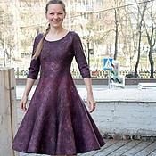 Одежда ручной работы. Ярмарка Мастеров - ручная работа Валяное платье  Марсала. Handmade.