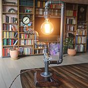 handmade. Livemaster - original item Table lamp from pipes in loft style, Edison. Handmade.