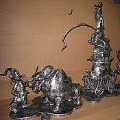 """Для дома и интерьера ручной работы. Ярмарка Мастеров - ручная работа Арт.31   кованая скульптура """"Как казаки за солью ездили"""". Handmade."""