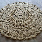 Для дома и интерьера handmade. Livemaster - original item Handmade carpet embossed knitted cord Dream-2. Handmade.