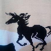 Одежда ручной работы. Ярмарка Мастеров - ручная работа Свитер мужской вязаный с принтом. Handmade.