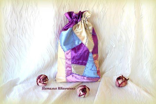 Подарочная упаковка ручной работы. Ярмарка Мастеров - ручная работа. Купить Мешочек лоскутный для подарка, для хранения и т.д.. Handmade.
