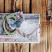 Открытки ручной работы. Ярмарка Мастеров - ручная работа Эко-открыточка. Handmade.