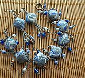"""Украшения ручной работы. Ярмарка Мастеров - ручная работа Комплект """"Голубой водоворот"""". Handmade."""