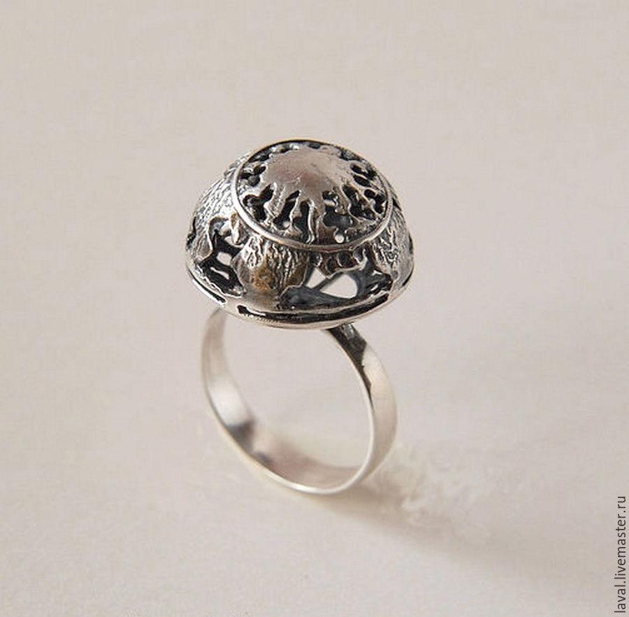 'Full moon' - silver ring, Rings, Kurgan,  Фото №1